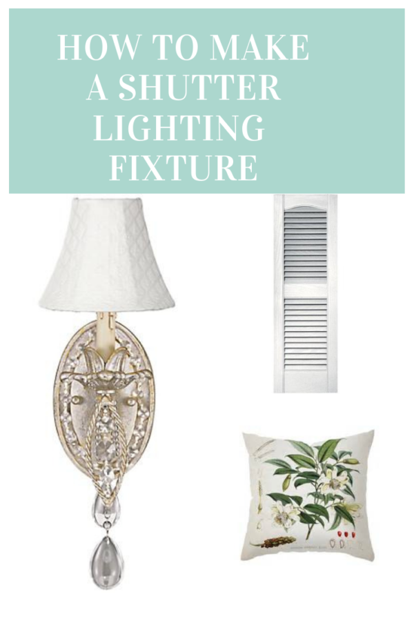 How To Create Shutter Lighting Fixture Perfect For Any Space.