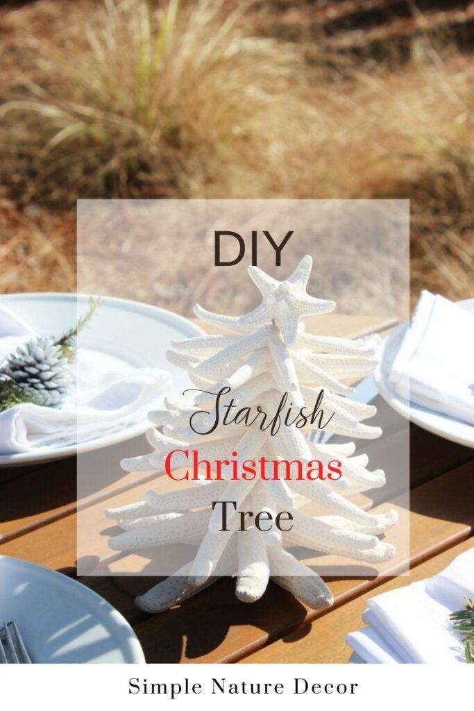 Starfish Christmas tree outside:How to Make A Starfish Christmas Tree