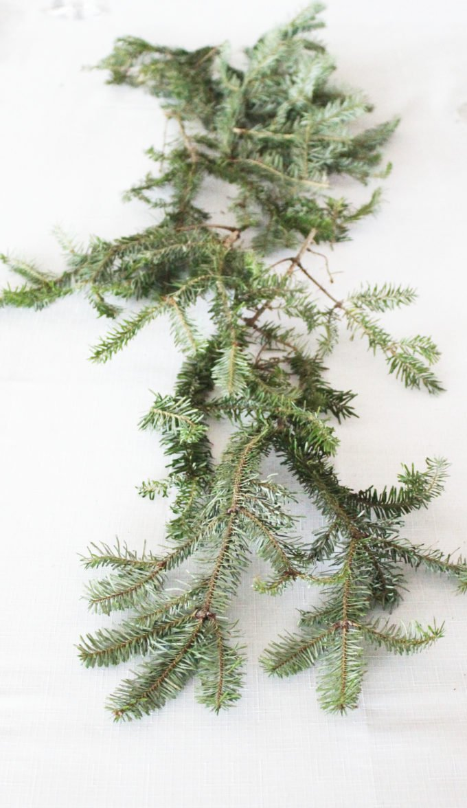 Pine clippings:How To Make A Oyster Shell Garland Centerpiece