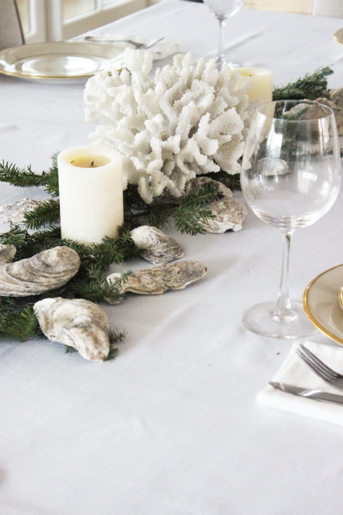 How To Make A Oyster Shell Garland Centerpiece