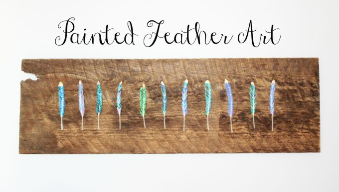 Painted Feathered Wall Art DIY