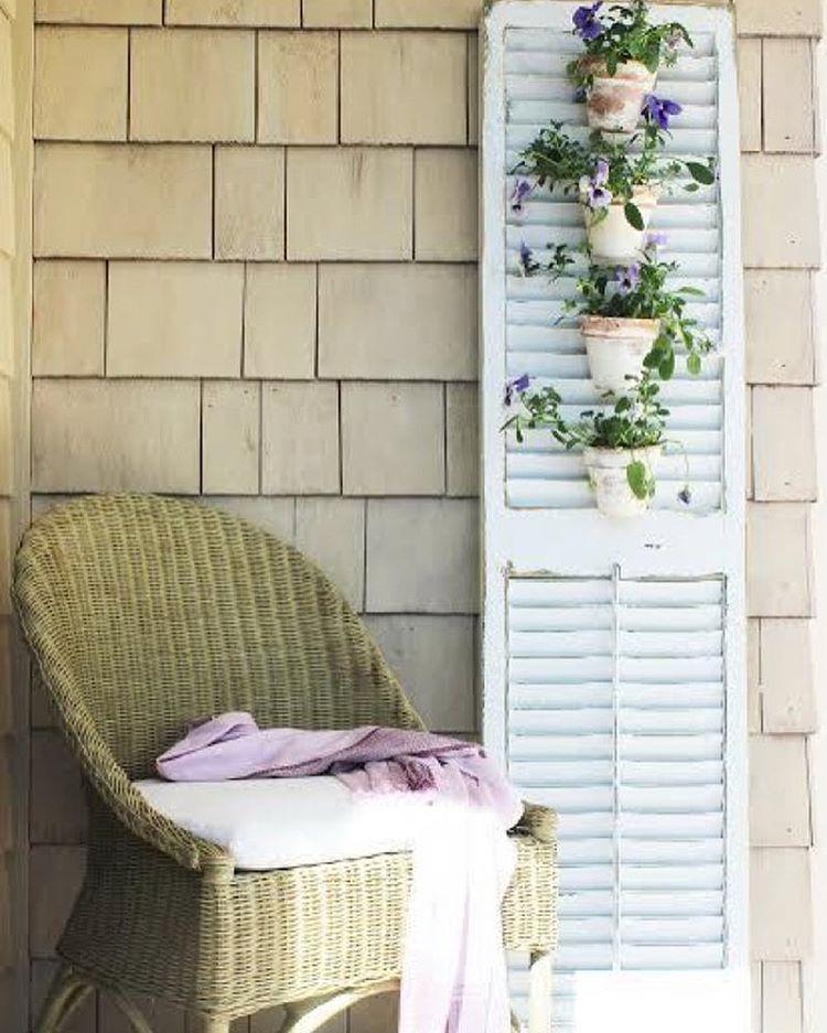 I created a stunning tuscan shutter garden using my Wagnerhellip