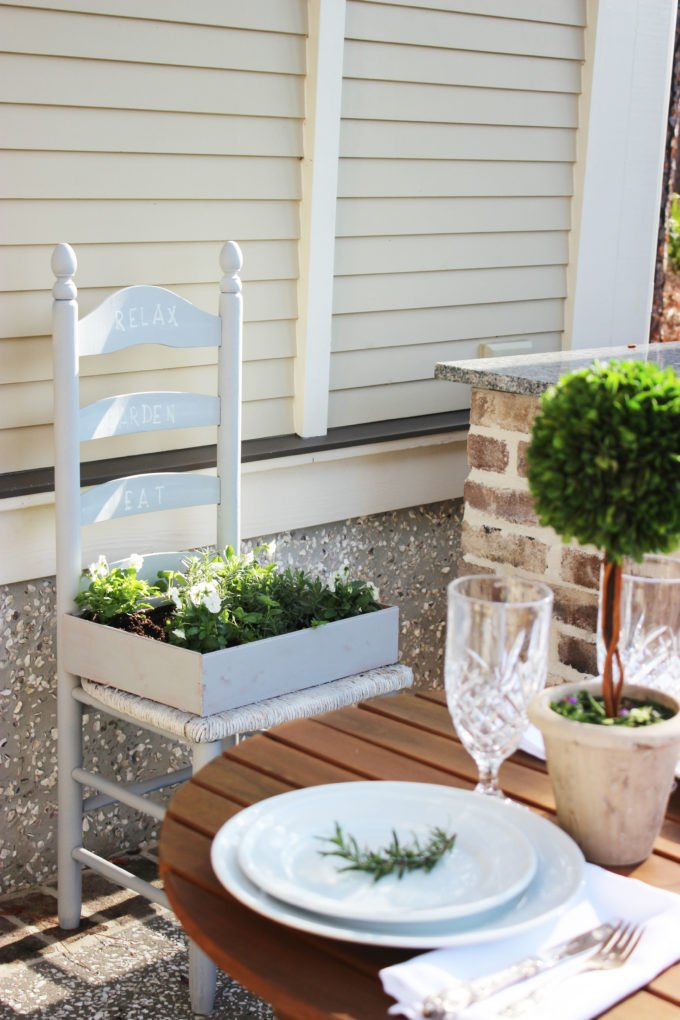 How To Create a Herb Garden From a Chair