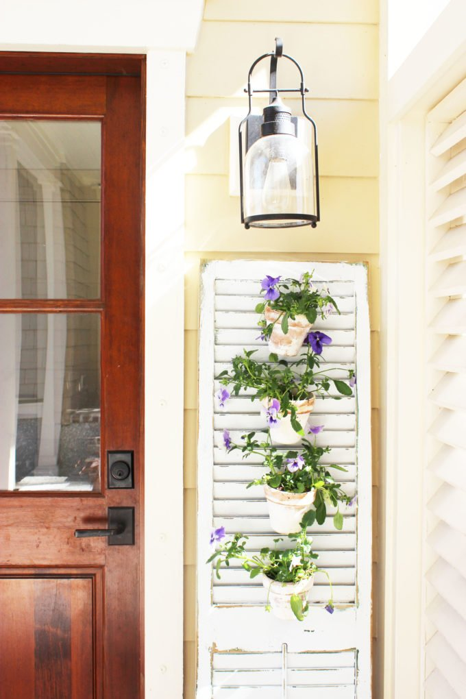 Tuscan Shutter Garden, shared by Simple Nature Decor