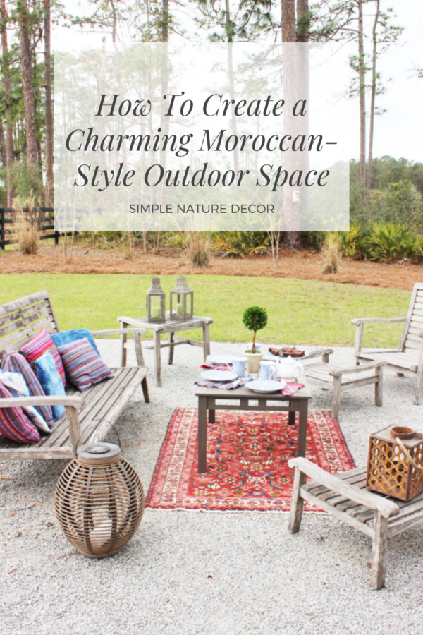 Charming Moroccan Style Outdoor E