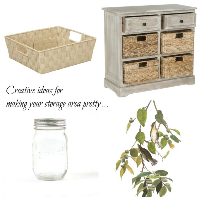 How To Make a Plain Storage Closet Pretty: Week 2
