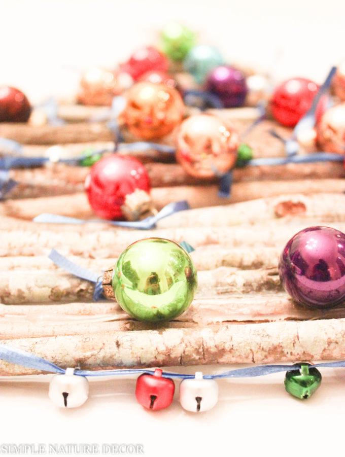 DIY Hanging Holiday Twig Tree