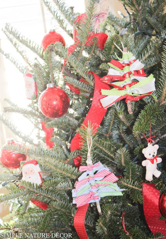 Holiday Tree Ribbon & Twig Ornament Tutorial & Video