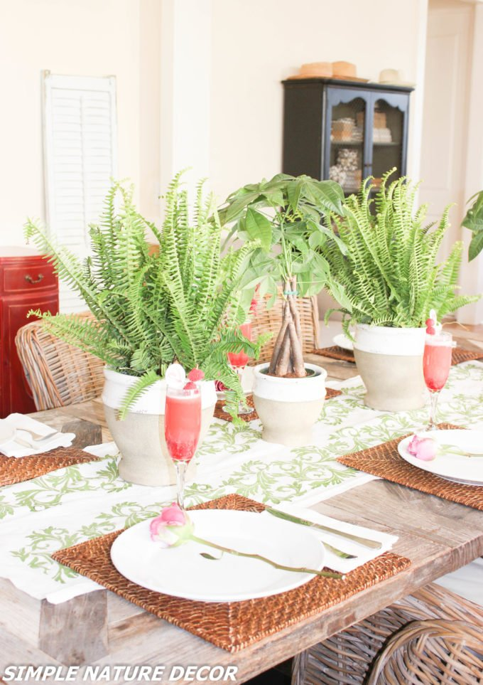 Indoor Garden Party Ideas Raspberry Punch Simple Nature