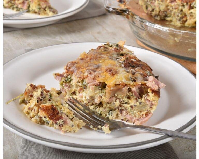 How To Prepare Crustless Ham and Broccoli Quiche