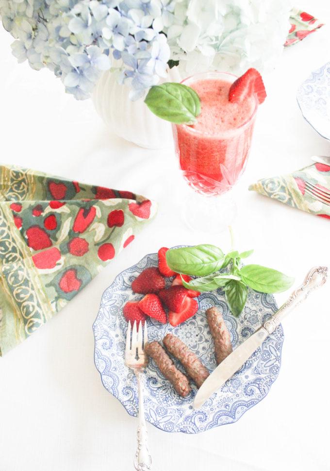 Fresh Strawberry Basil Lemonade Recipe