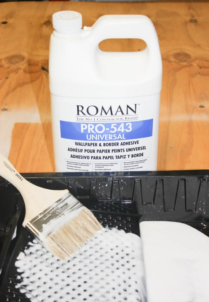Supplies to wallpaper: How to Wallpaper A Small Bathroom