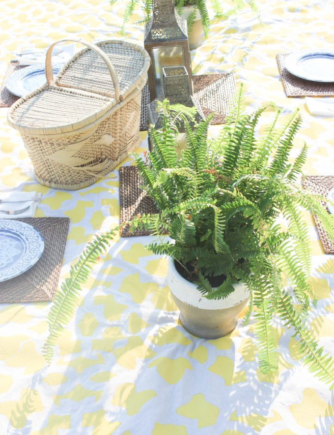 Diy Stenciled Picnic Waterproof Blanket