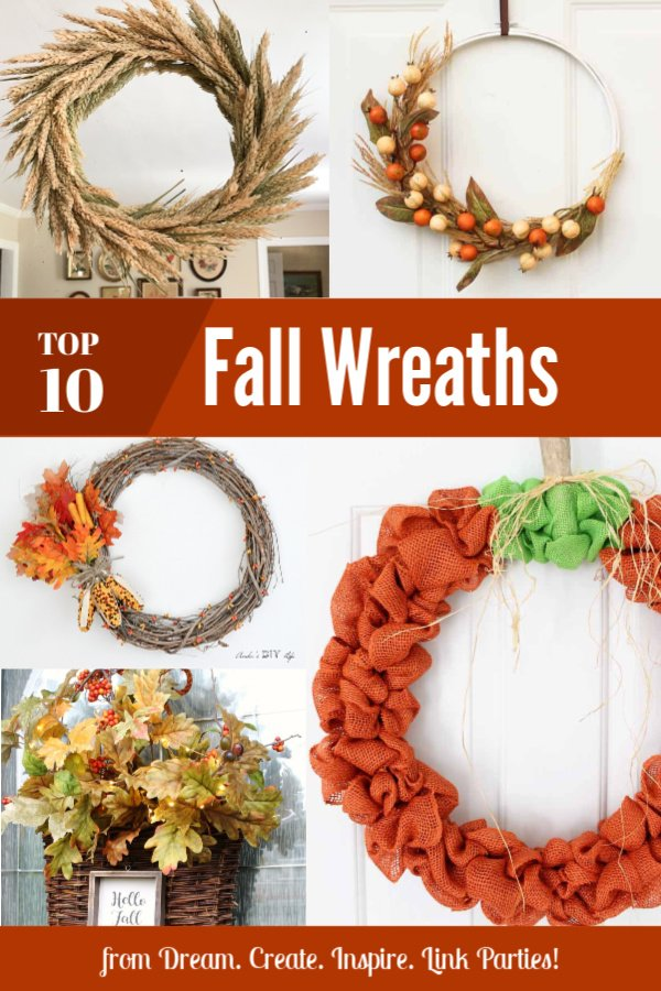 Fall Wreaths From Dream Create Inspire Link Party