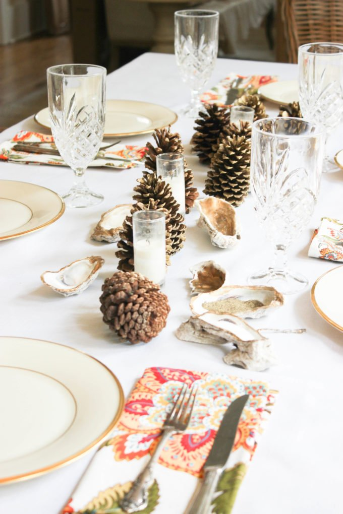 How To Decorate a Coastal Fall Table with Natural Elements