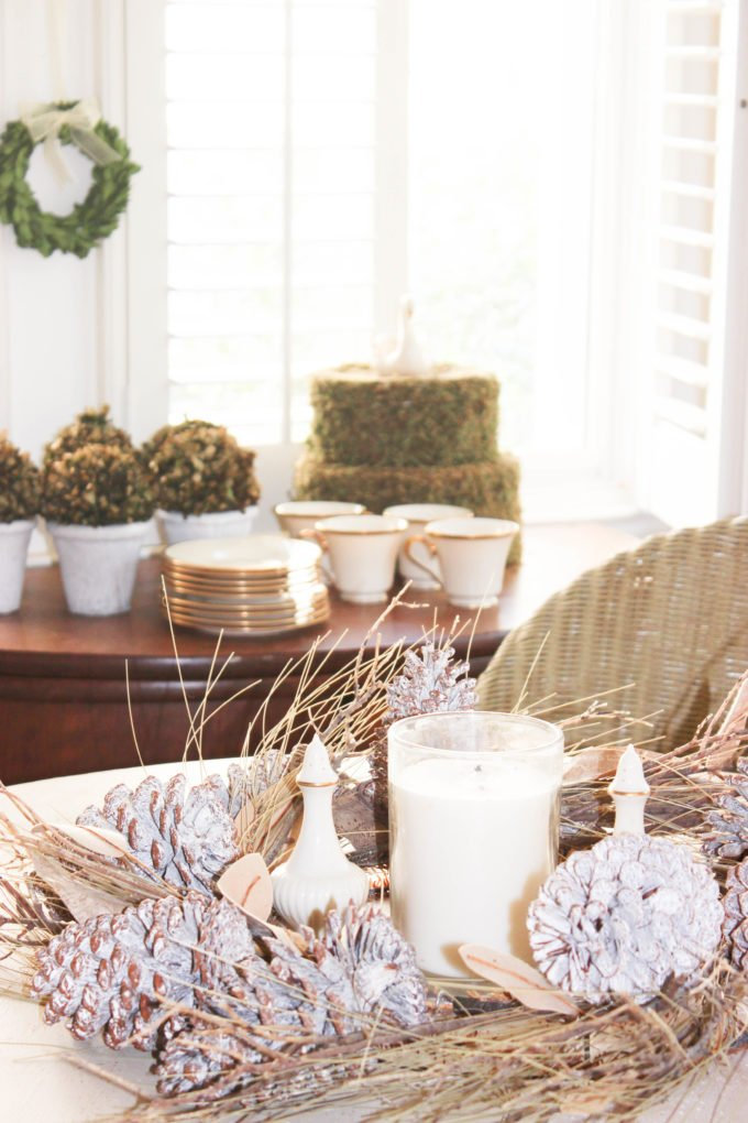 Decorating For The Fall With Preserved Boxwood Balls and Wreaths