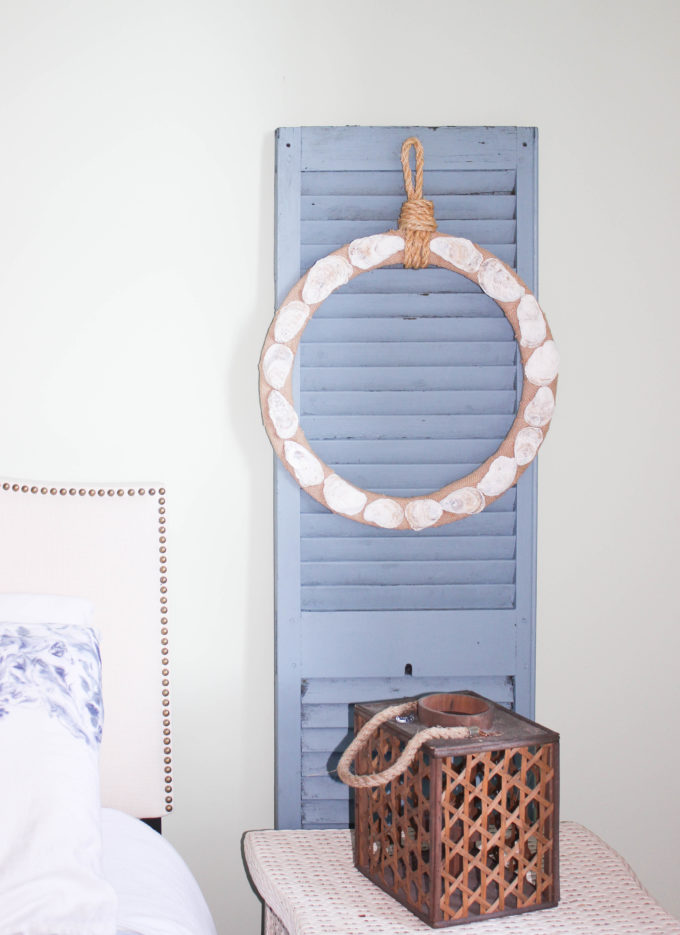 The Secret To Making DIY Oyster Shell Wreath for bedroom decor
