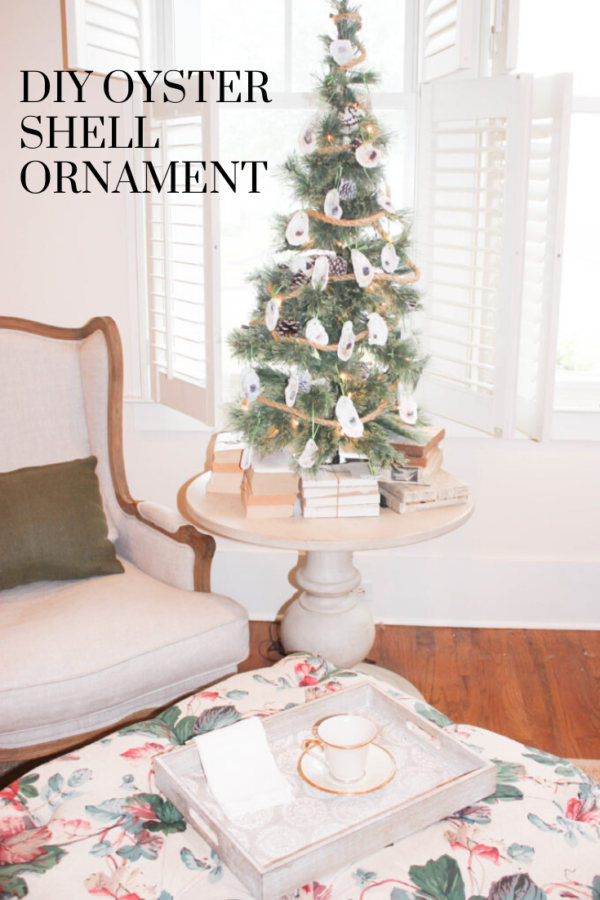 DIY oyster shell ornament