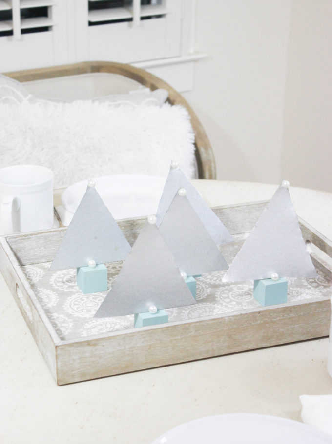 DIY Scandinavian Style Metal Holiday Tree Accents