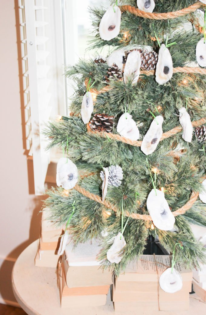 3 Easy Steps To Make a Holiday Oyster Shell Ornament