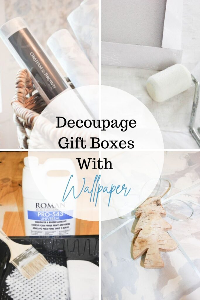 How To Decoupage Giftboxes With Wallpaper