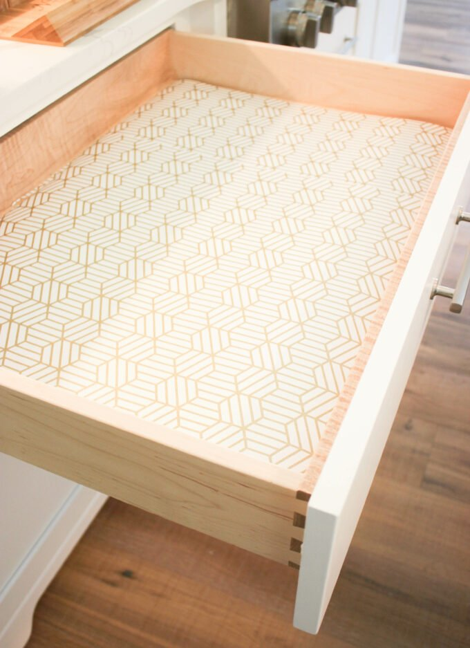 3 Easy Steps Using Wallpaper As Drawer Liners your drawers with wallpaper: