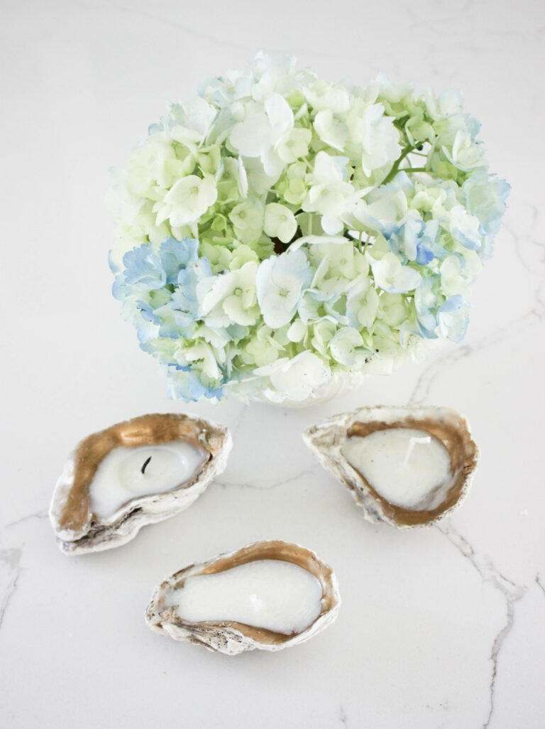 How To Create A Oyster Shell Tea Light Candle