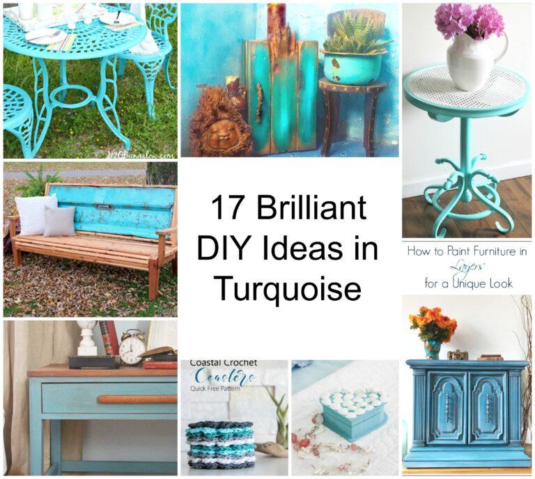 17 Brilliant DIY Ideas in Turquoise