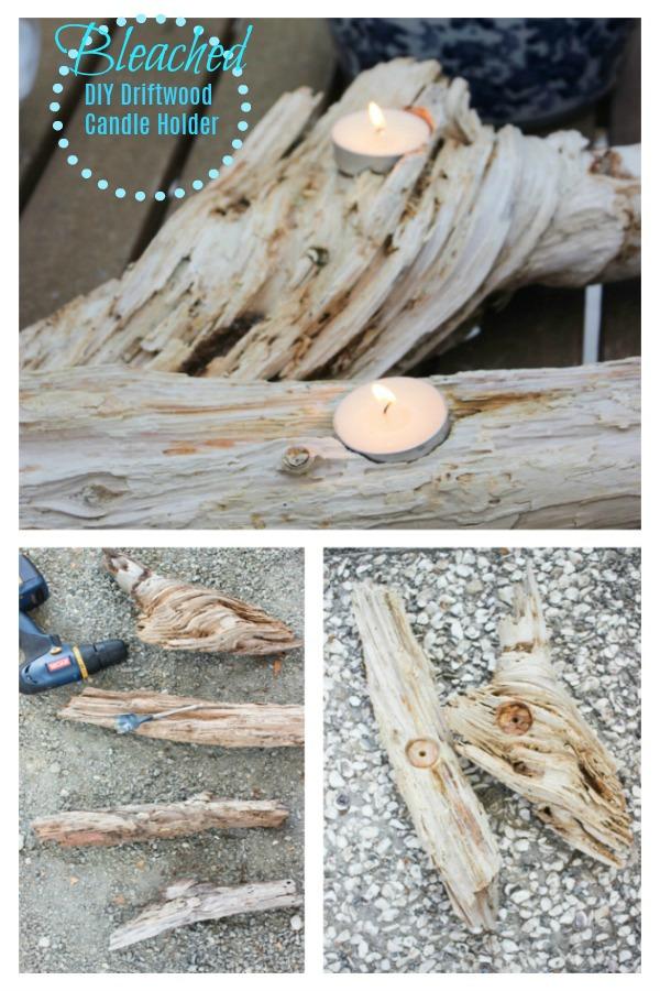 bleached candleholder