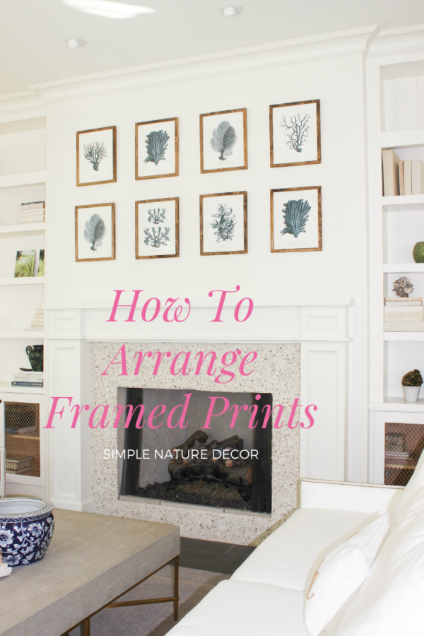 how to arrange framed prints