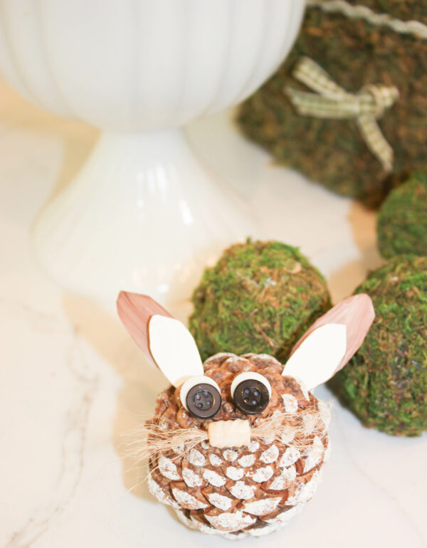 Pine cone Easter bunny