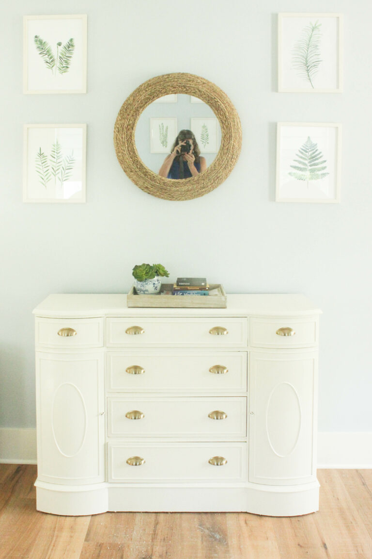 How To Transform a Buffet Cabinet into a Bedroom Dresser