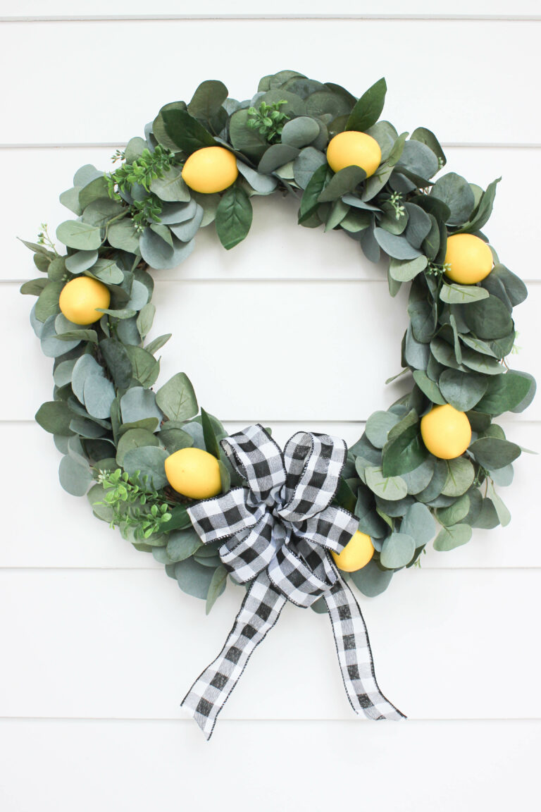 How To Make A Festive Lemon Wreath For Any Occasion