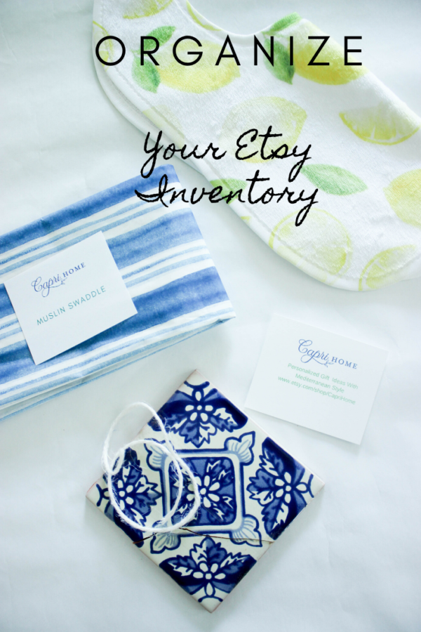 organize etsy inventory