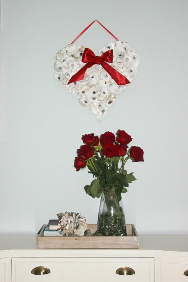oyster shell valentine wreath