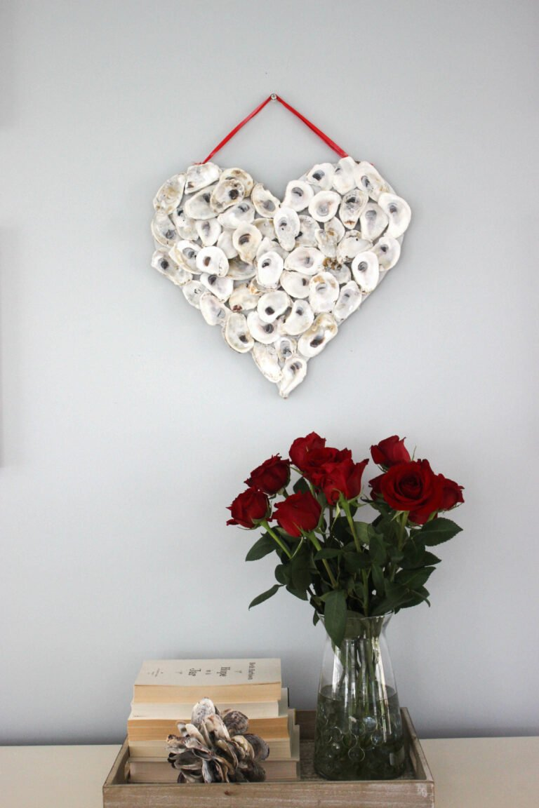 How To Make An Oyster Shell Valentine's Day Wreath