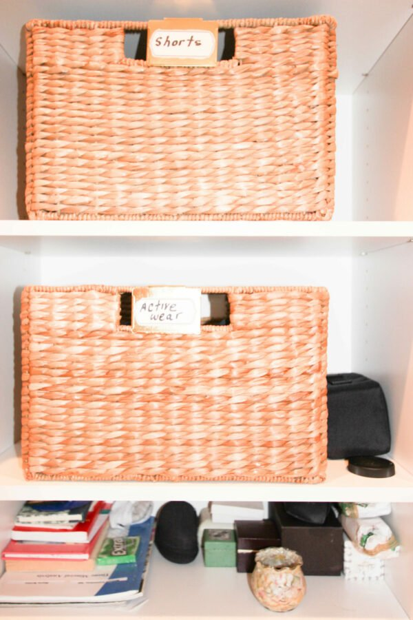 Baskets for organizing:How To Design His and Hers Walk In Closet