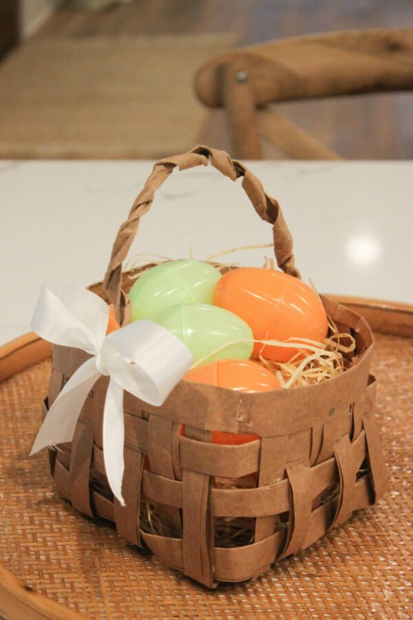 How To Make A Easter Basket From A Grocery Bag