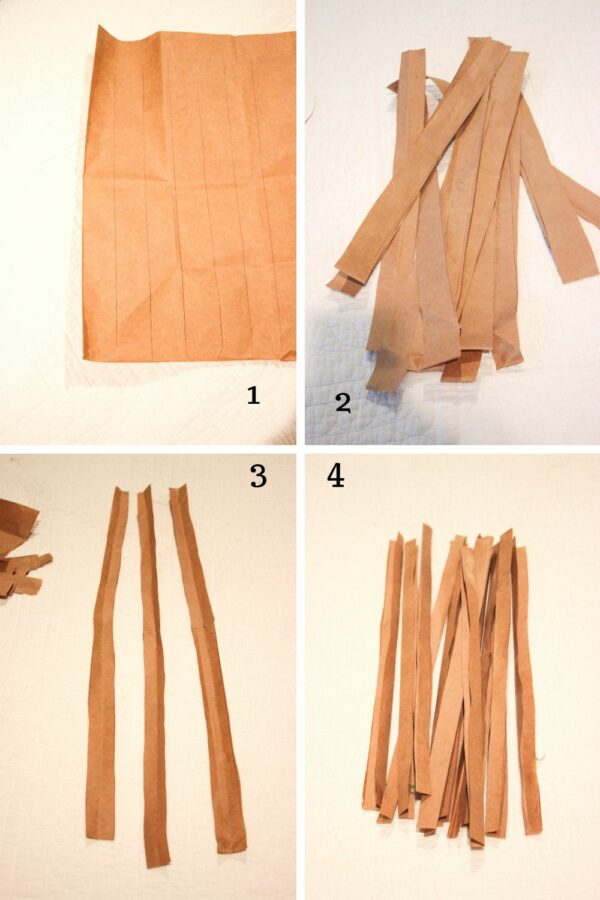 tutorial on How To Make A Easter Basket From A Grocery Bag