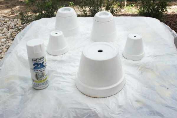 spray paint How To Hand Paint Garden Pots With Chinoiserie Designs