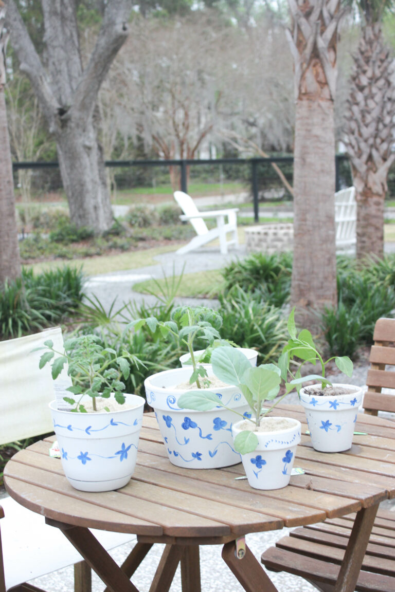 How To Hand Paint Garden Pots With Chinoiserie Designs