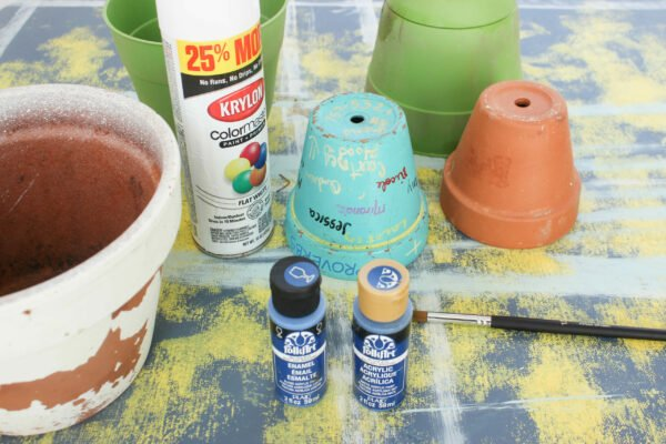 supples for How To Hand Paint Garden Pots With Chinoiserie Designs