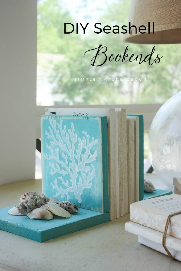How To Make Seashell Bookends With Scraps of Wood