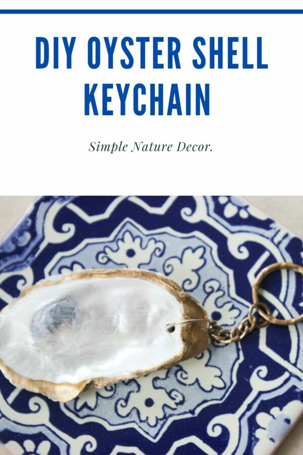 Gold paint key oyster shell key chain How To Make A Gold Painted Oyster Shell Keychain