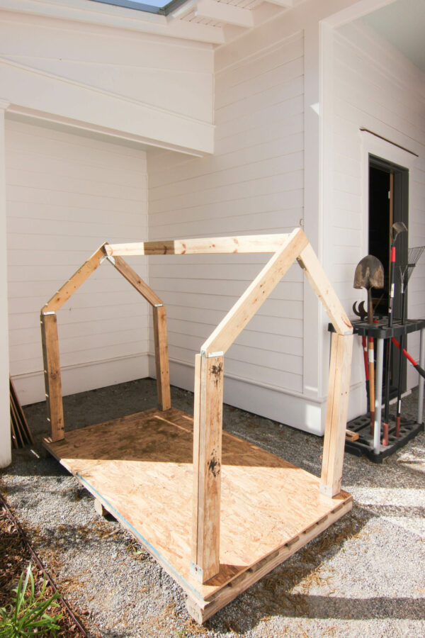 frame for cedar plahouse How To Make The Cutest Outdoor Cedar Playhouse