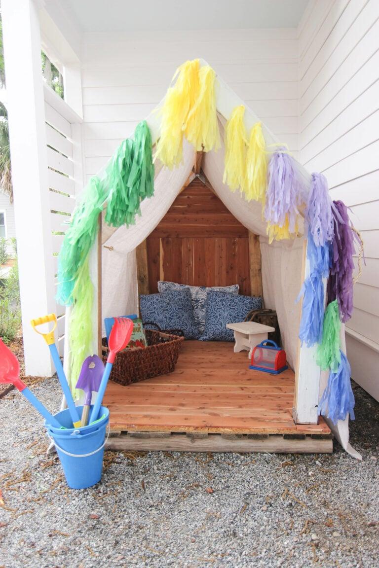 How To Make The Cutest Outdoor Cedar Playhouse