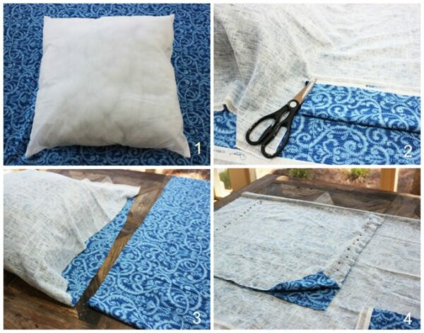 steps to making pillows: How To Make Mediterranean Decorative Pillows In 6 Easy Steps