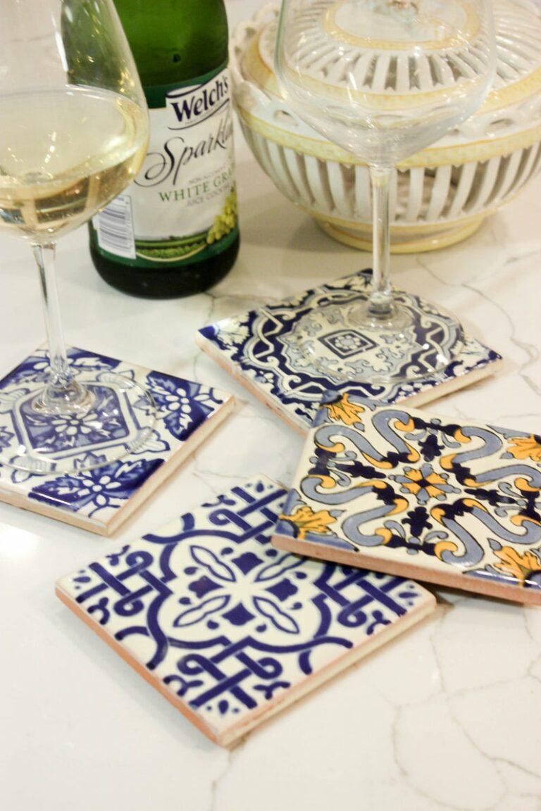 Handmade Mediterranean Style Coasters In Mix Pattern