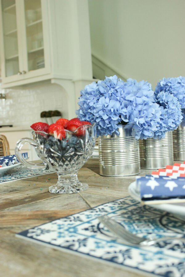 How To Create a Festive Red White and Blue Tablescape
