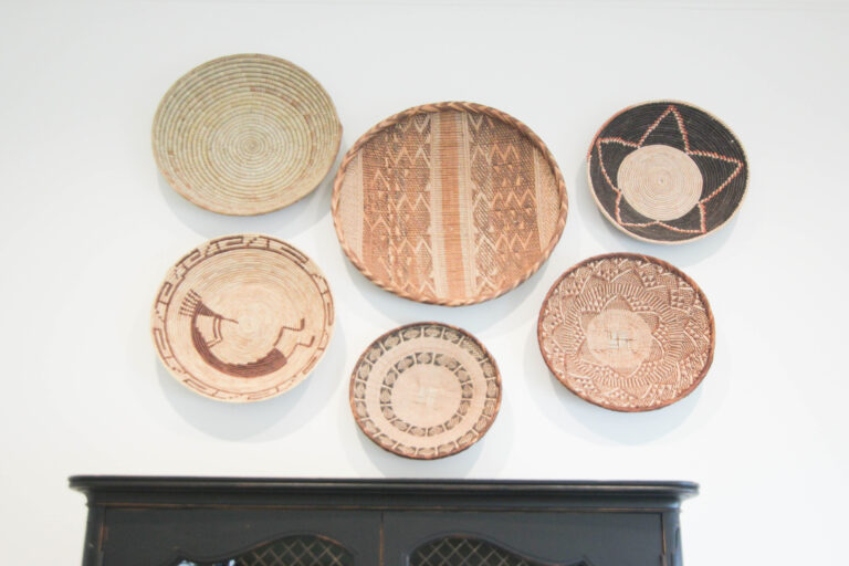 How To Arrange and Hang Decorative Baskets